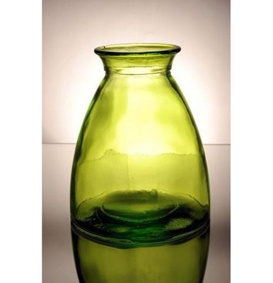 San Miguel Coloured Glass 20cm Vase in Green