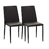 Julian Bowen Set of 4 Black Jazz Stacking Chairs