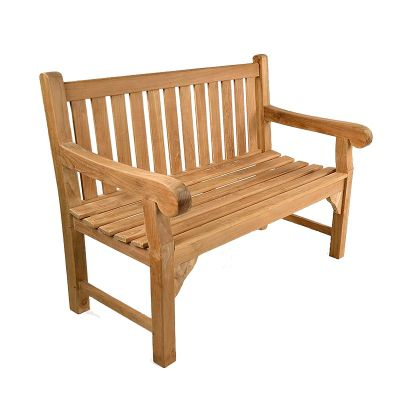 BrackenStyle Queensbury Teak Bench - 2 Seater