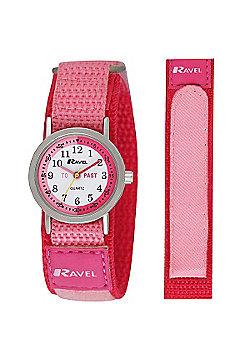 Girls Pink Time Teacher Watch