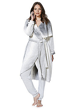 F&F Ombre Waterfall Dressing Gown - Multi grey