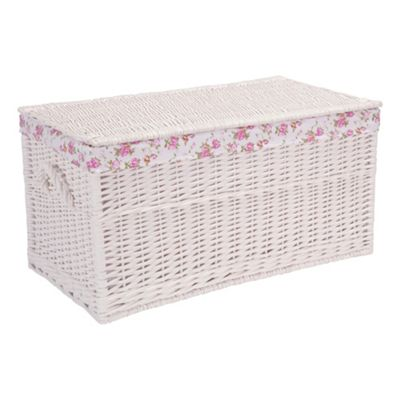 Tesco White Wicker Trunk