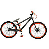 "Zombie Airbourne 25/9 24"" Wheel Dirt Jump BMX Grey/Orange"