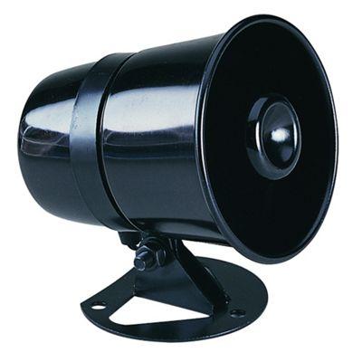 Maplin Black 8 Ohm 8W ABS Plastic Horn Speaker