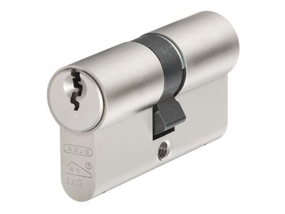 ABUS Mechanical E60NP Euro Double Cylinder Nickel Pearl 30mm / 45mm Visi