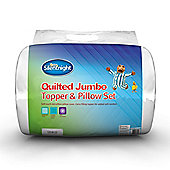 Silentnight Quilted Jumbo Mattress Topper & Pillow set - Single