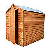 Mercia Windowless Overlap Apex Wooden Shed, 7x5ft