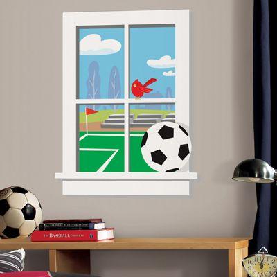 Kids Football Large Wall Stickers, Football Giant Window Wall Stickers