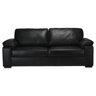 Ashmore 3 Seater Leather Sofa Black