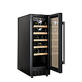 Cookology CWC300BK 30cm Wine Cooler in Black | 20 Bottle Capacity Undercounter or Freestanding Fridge