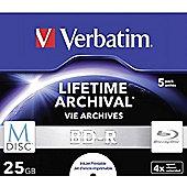 Verbatim Blu-ray Recordable Media - BD-R, 5 Pack Jewel Case