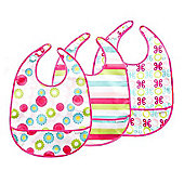 JJ Cole 3 Piece Bib Set - Girl