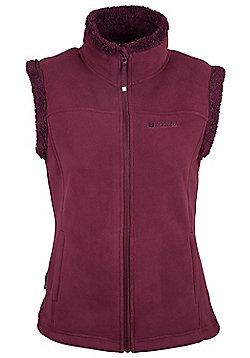 Mountain Warehouse Womens Gilet Microfleece Design and Supersoft Fluffy Fleece - Purple