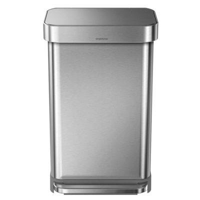 Simplehuman Stainless Steel 45L Rectangular Step Can Bin with Liner Pocket CW2024