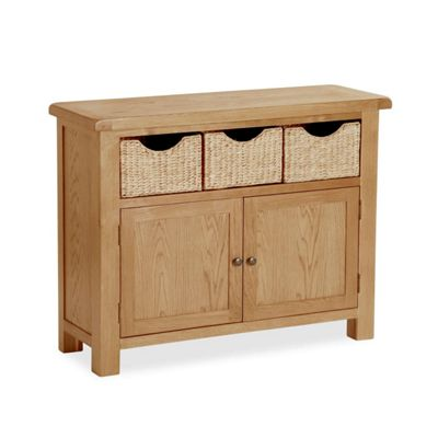 Salisbury Oak Sideboard with Baskets