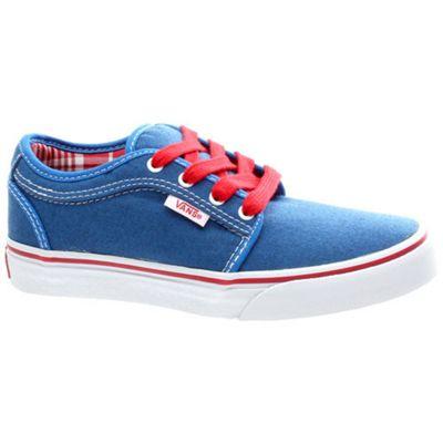 Vans Chukka Low Kids (Oxford) Sky Blue/Red Shoe UDV8QE