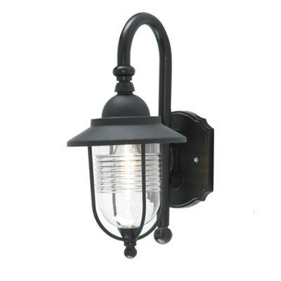 Litecraft Harvey 1 Bulb Outdoor Fisherman Style Wall light, Black