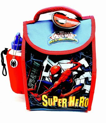 Marvel Ultimate Spider-Man Deluxe Insulated Lunch Bag with Bottle
