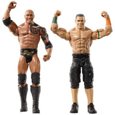 WWE WrestleMania 2 Pack Figures The Rock and John Cena