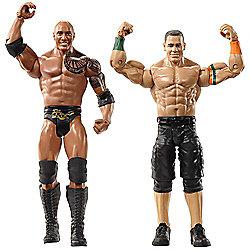 WWE WrestleMania 2 Pack Figures The Rock and John Cena