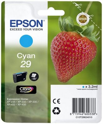 Epson C13T29824022 3.2ml 180pages Cyan ink cartridge