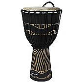"World Rhythm 12"" Jammer Swirl Black Djembe Drum"
