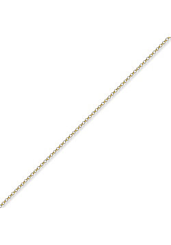 9ct Solid Gold Traditional English Micro Belcher pendant Chain Necklace in 16 inch - 1.5mm gauge