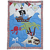 Handmade Pirate Cot Wrap Quilt by Powell Craft