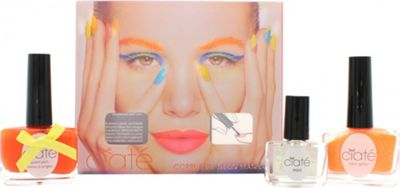Ciaté Corrupted Neon Manicure Club Tropicana Gift Set 13.5ml Nail Polish in Cha Cha Cha + 10g Club Tropicana Neon Glitter + 5ml Black Light Top Coat