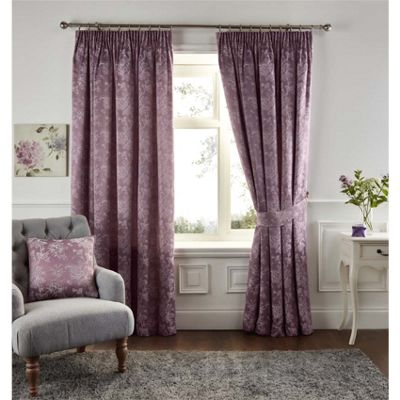 Fusion Ilsa Heather Pencil Pleat Curtains - 66x72 Inches (168x183cm)