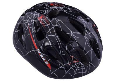 Ammaco Spider Web Black Kids Bike Helmet 55-59cm