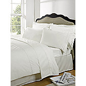 Dreamscene Highams 100% Egyptian Cotton Plain Dye Valance Sheet - Cream