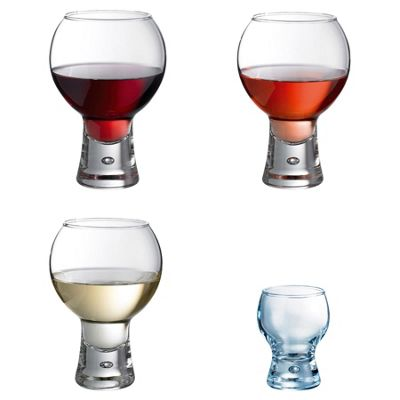 Durobor Alternato 24 Piece Set Short Stem Wine Glasses and Shot / Amuse Bouche Glass