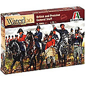 Italeri Waterloo British Prussian General Staff 6065 1:72 Figures Model Kit