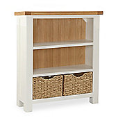 Daymer Painted Bookcase - Low Bookcase - White Painted