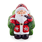 Armchair Father Christmas Terracotta Tealight Holder