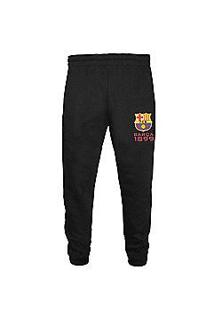FC Barcelona Boys Slim Fit Jog Pants - Black