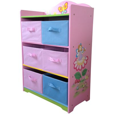 Fairy Storage Unit with Fabric Bins
