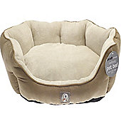 Canterbury Plain Faux Suede Dog Pet Bed - 65x50x20cm - brown