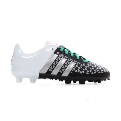 adidas Ace 15.3 FG Firm Ground Kids Football Soccer Boot Black/White - UK 11