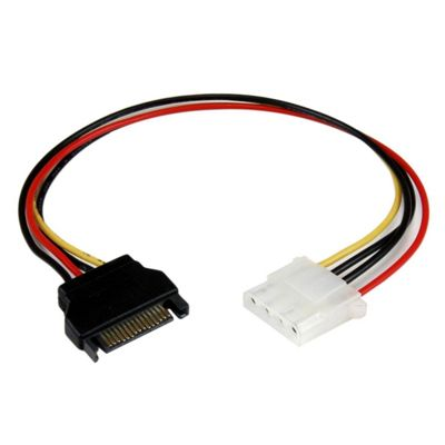 StarTech.com (12 inch) SATA to Molex LP4 Power Cable Adapter - F/M