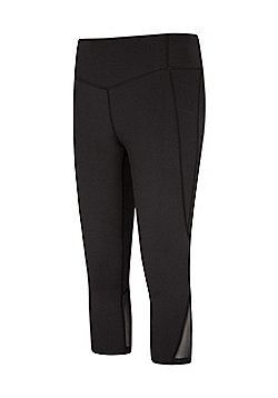 Mountain Warehouse TAKE CONTROL SLIMMING CAPRI LEGGING - Black