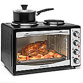 Andrew James Mini Oven and Grill with Double Hob - 33 Litre - 3000W