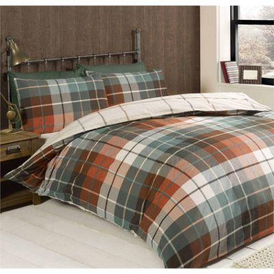 Rapport Lewis Terracotta Duvet Cover Set - Single