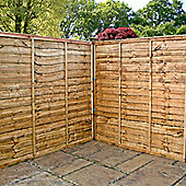 6FT Lap Panel Overlap Fencing Panel - 1 Panel Only 6' - Fast Delivery - Pick A Day