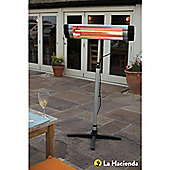 La Hacienda Adjustable Standing Patio Heater 2000W