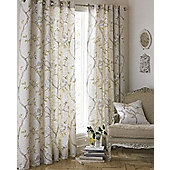 Riva Home Rosemoor Natural Eyelet Curtains - 66x72 Inches (168x183cm)