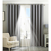 Riva Home Eclipse Blackout Eyelet Curtains - Silver