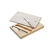 Master Class Artesa Marble and Wood Cheese Board and Knife Set