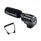 Saramonic SR-PMIC1 Super-Cardioid Unidirectional Condenser Microphone with Integrated Shockmount, Low-Cut Filter & Battery-Free Operation for DSLR & C